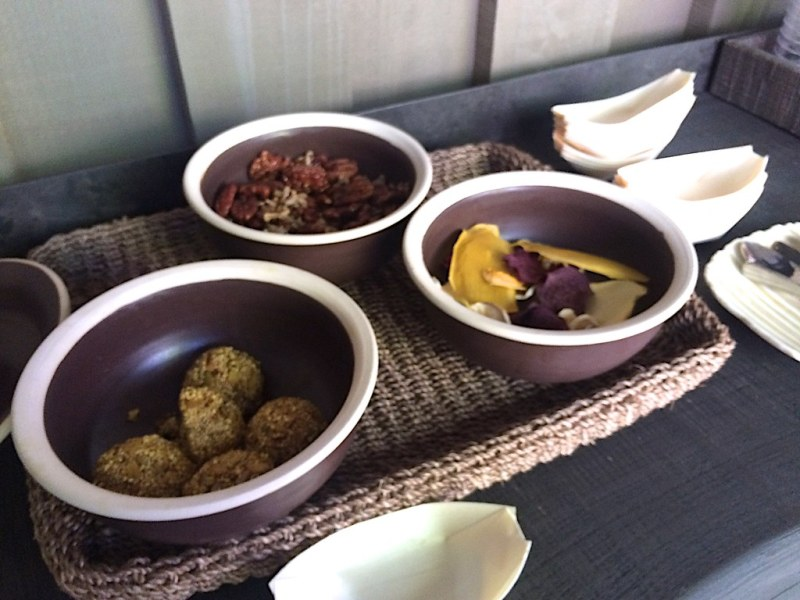 Snacks at Meadowood Spa