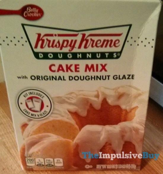 Betty Crocker Krispy Kreme Doughnuts Cake Mix with Original Doughnut Glaze