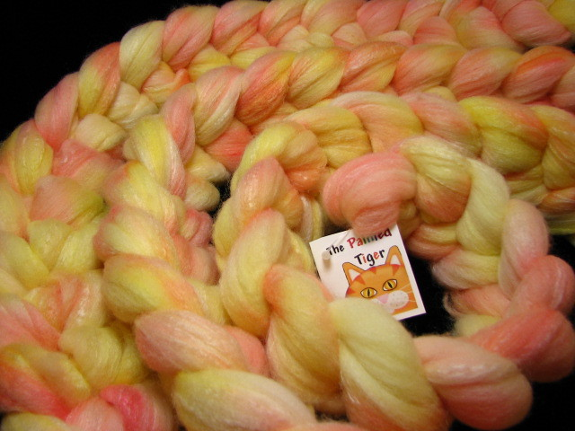 Blushing Dahlia Tiger Club March 2016 on SW Merino/Merino/Silk