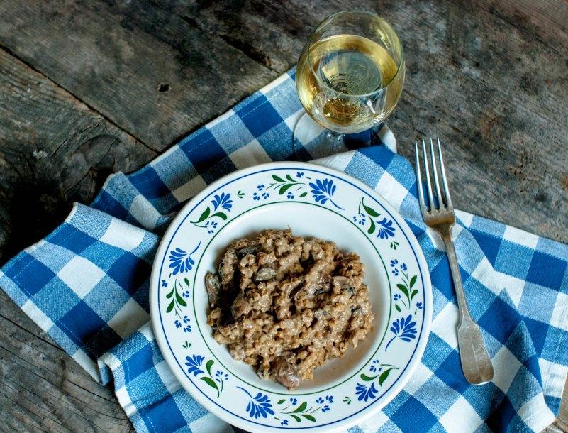 Kaszotto z grzybami leśnymi i masłem truflowym