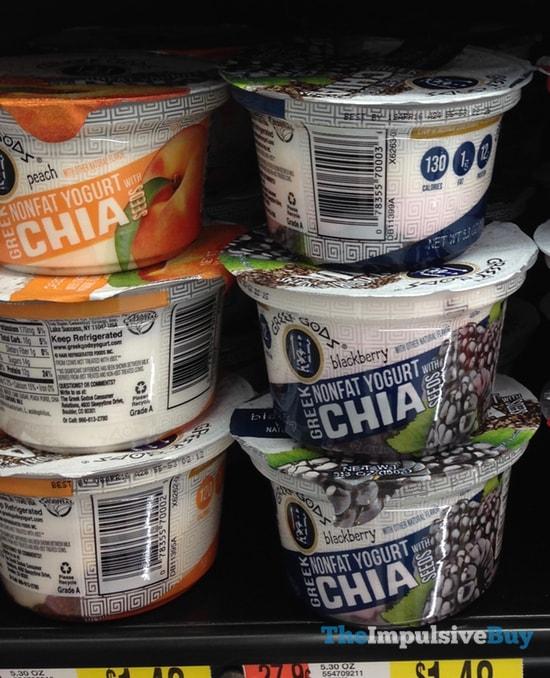 Greek Gods Peach and Blackberry Greek Yogurt with Chia Seeds
