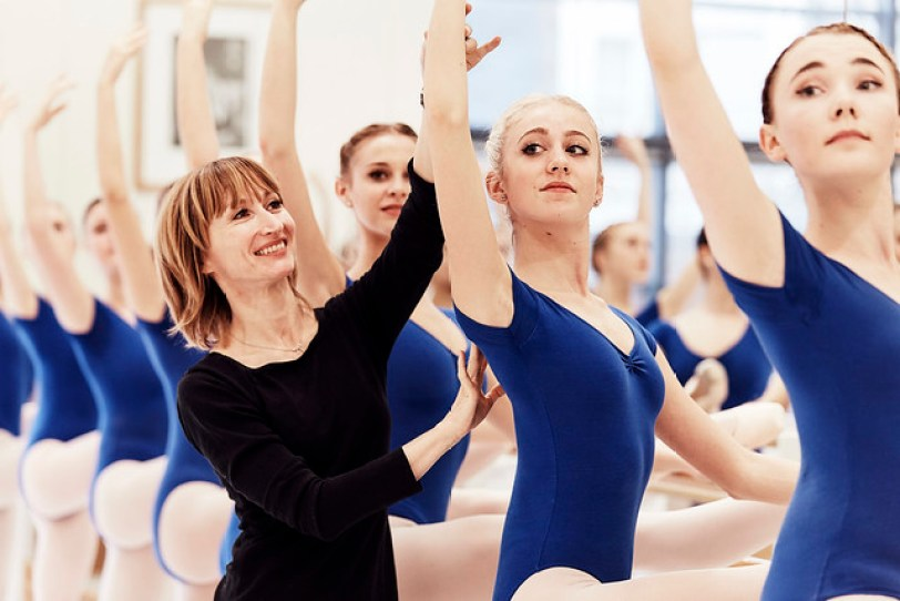 Students at The Royal Ballet School