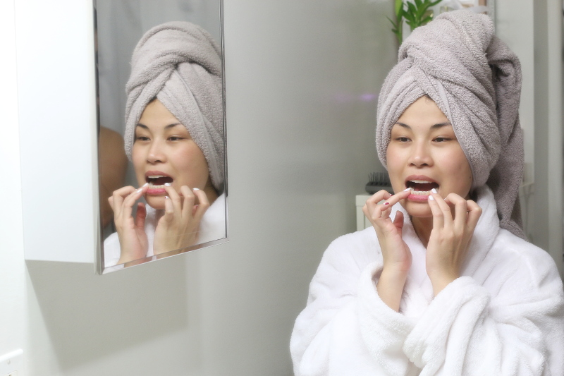teeth whitening, bathroom