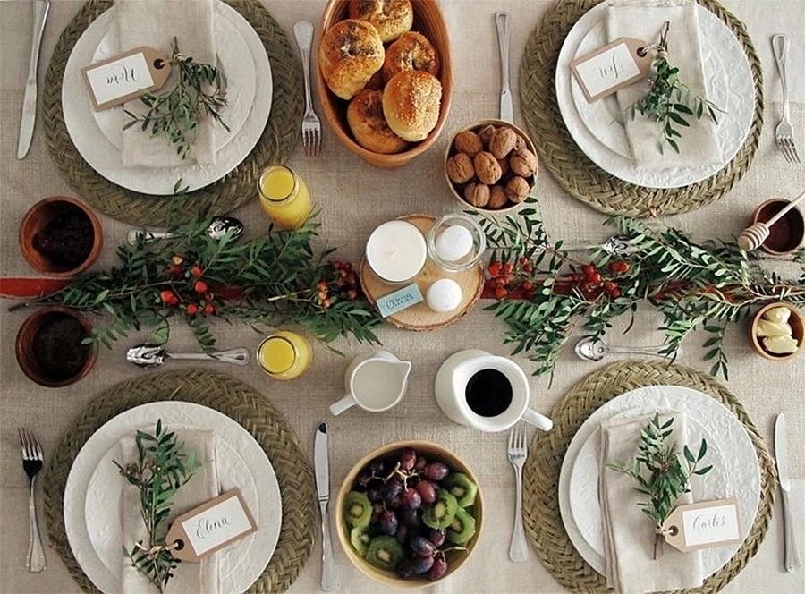 como decorar una mesa comida amigas decoracion