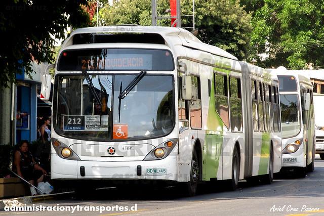 Transantiago (212) - Subus Chile - Marcopolo Gran Viale / Volvo (BDWL45) (9531)