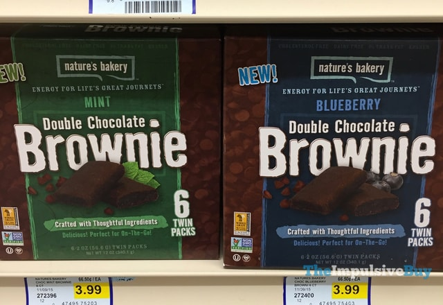 Nature's Bakery Mint and Blueberry Double Chocolate Brownie