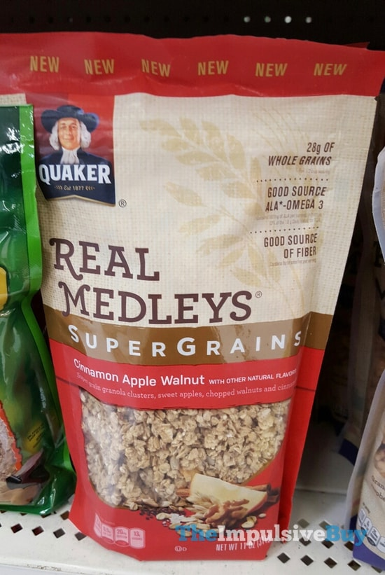 Quaker Real Medleys SuperGrains Cinnamon Apple Walnut