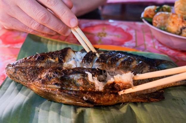 Lemongrass fish. Night market