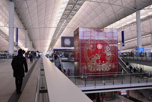 春節の香港空港
