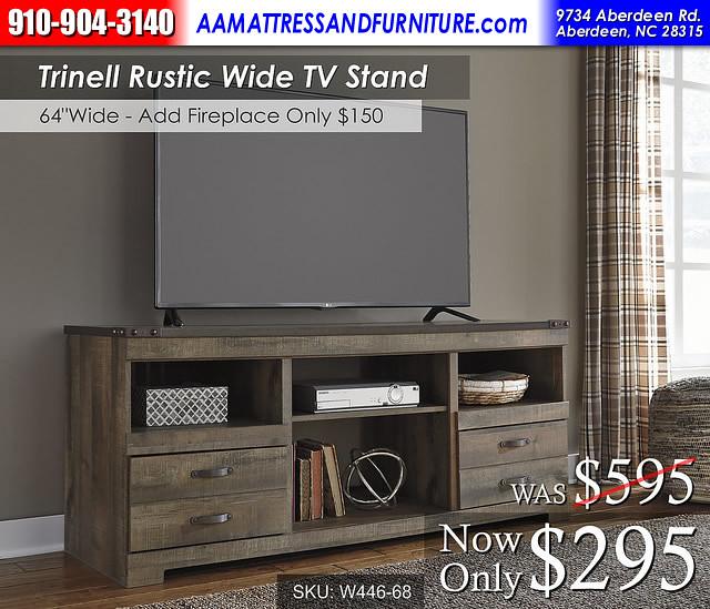Trinell Wide TV stand RWB