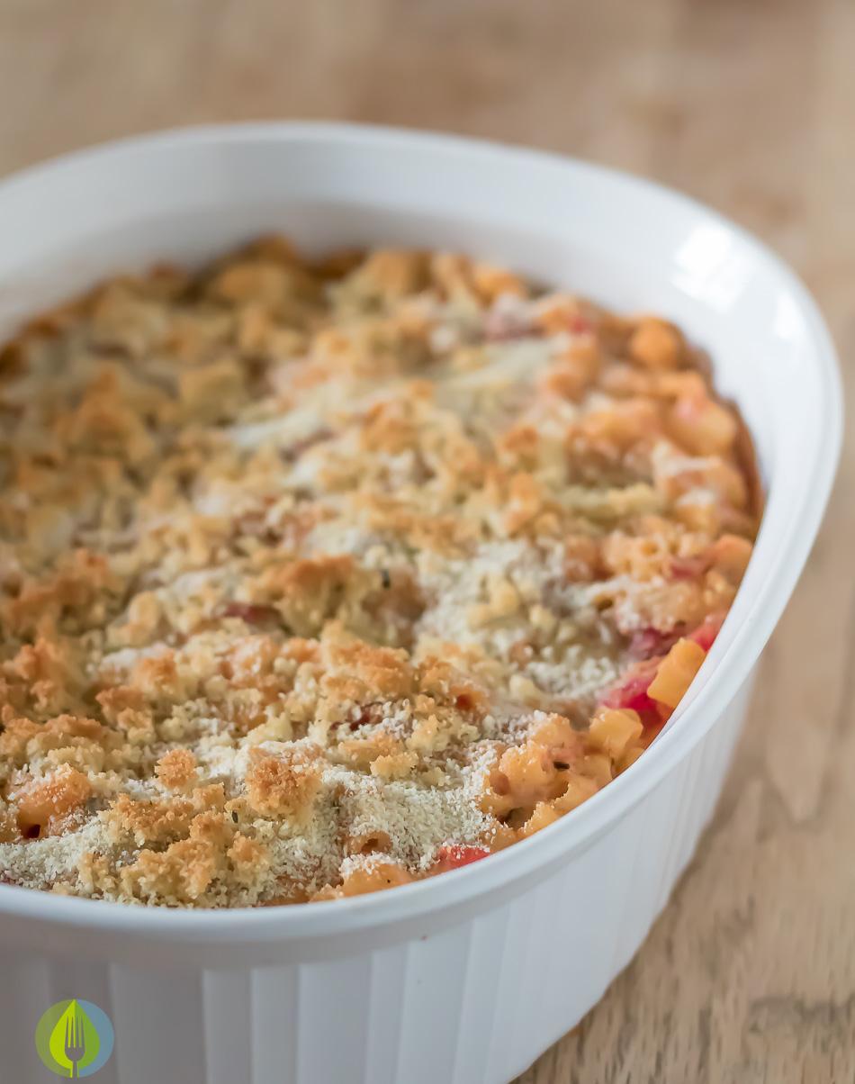 Creamy Tomato Mac & Cheese Bake | www.infinebalance.com