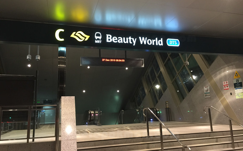 Beauty World Station - 27 Dec - Taking the first ride that arrives.