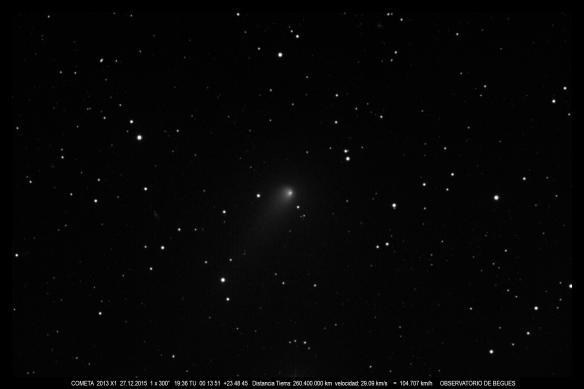 Cometa 2013 X1 27 12 2015