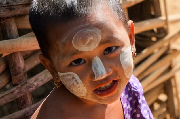 Child in Chin village.