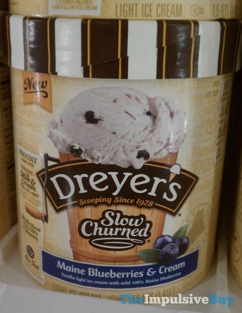 Dreyer's Slow Churned Maine Blueberries & Cream Ice Cream