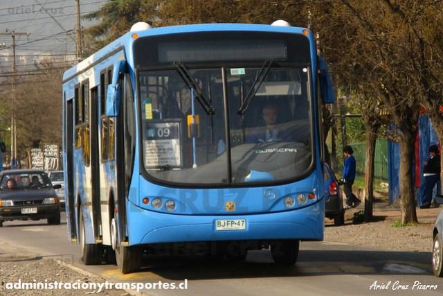 Transantiago - Unitran - Busscar Urbanuss Pluss / Mercedes Benz (BJFP47)