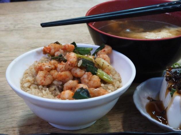 集品蝦仁飯と蝦仁鴨蛋湯