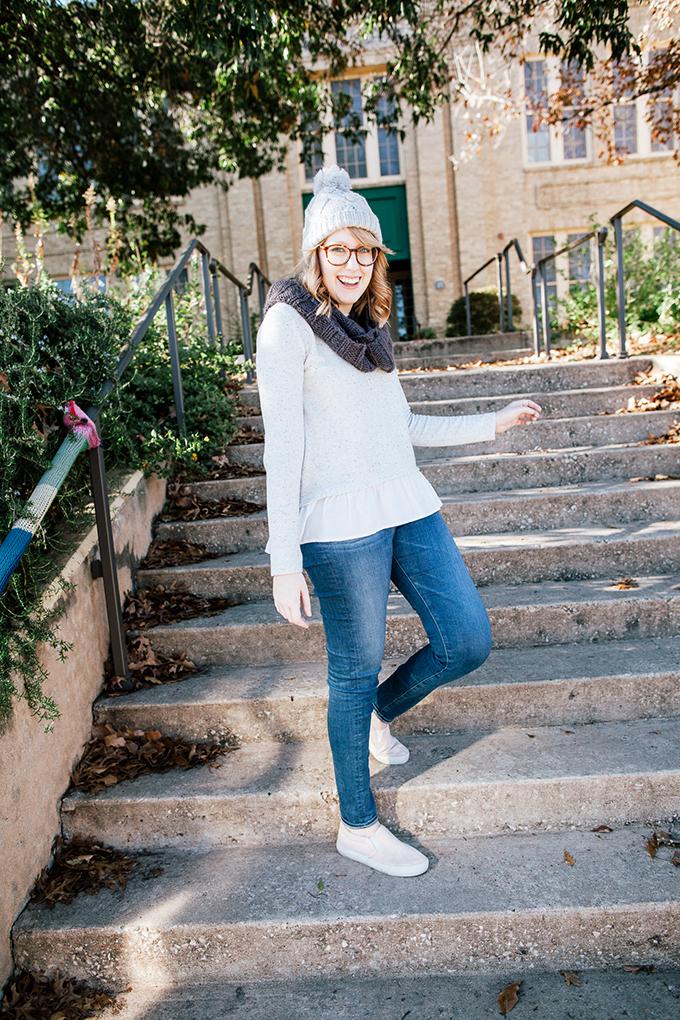 peplum sweater knit beanie10