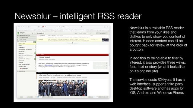 News blur - intelligent RSS reader