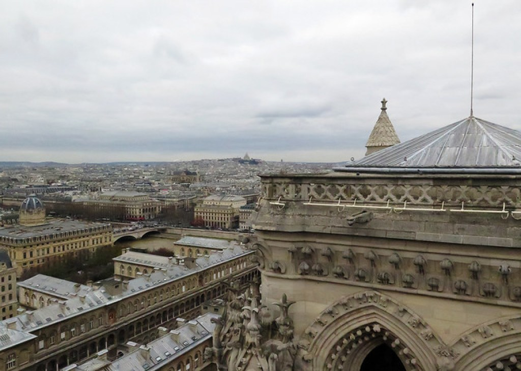 Sacre-Coeur from the Roof of Notre Dame