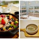 貴婦級早午餐在七期登場啦!!林酒店正對面的『ivette cafe』淡綠色外觀好吸睛,綜合莓果起司熱鬆餅外觀根本藝術品!!!