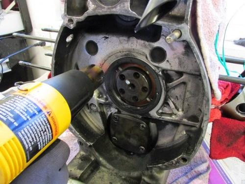 Heating Engine Case Around Rear Main Seal