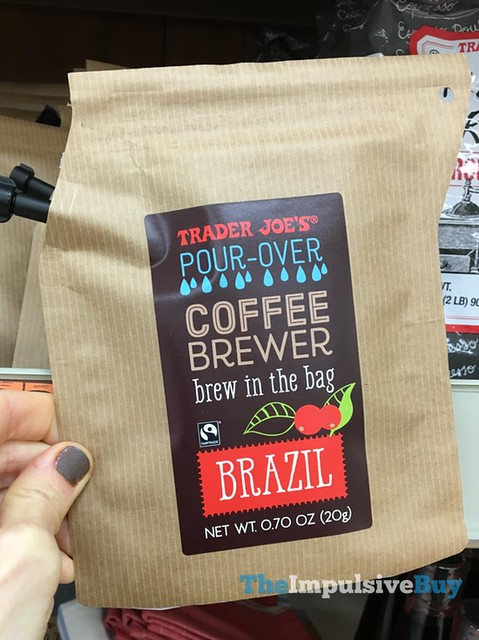 Trader Joe's Pour Over Coffee Brewer Brew in the Bag Brazil