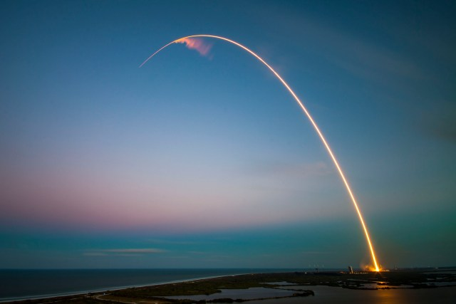 Trajectory of Falcon 9 of SpaceX