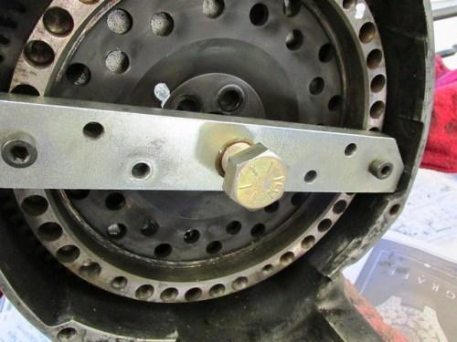 Flywheel Puller Bolt Installed