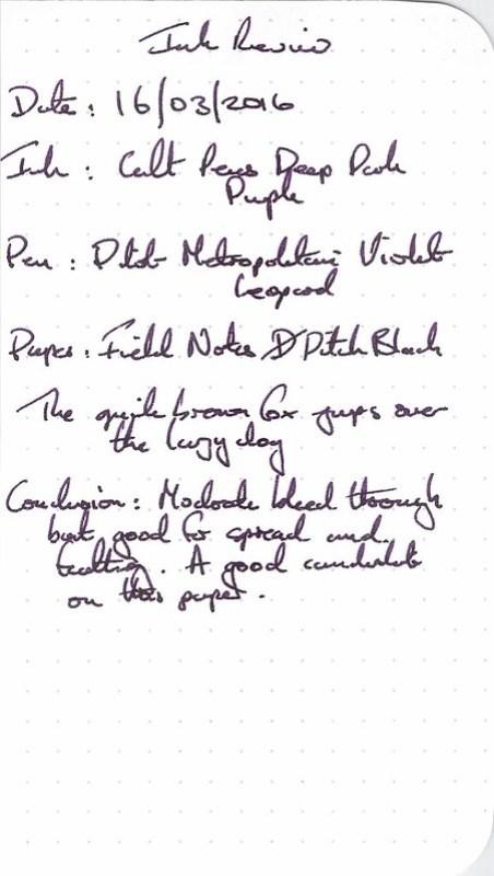 Cult Pens Deep Dark Purple - Field Notes