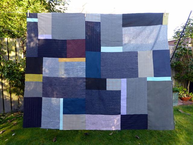 Mixed Textiles Man Quilt