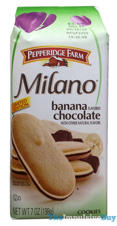 Pepperidge Farm Limited Edition Banana Chocolate Milano Cookies