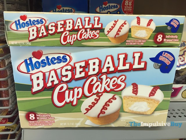 Hostess Limited Edition Baseball Cup Cakes