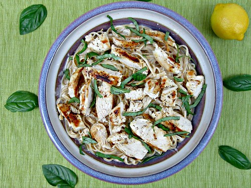 Lemon Basil Chicken Fettuccine