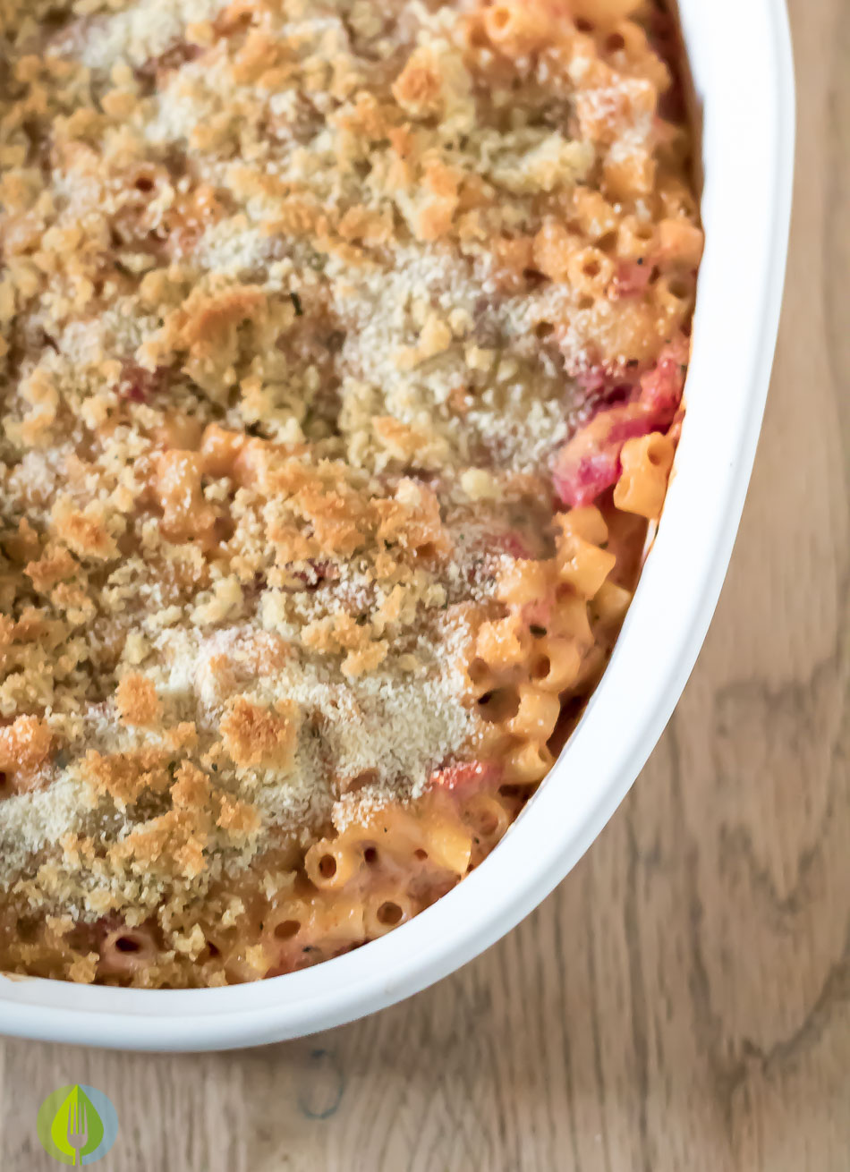 Creamy Tomato Mac & Cheese Bake | infinebalance.com