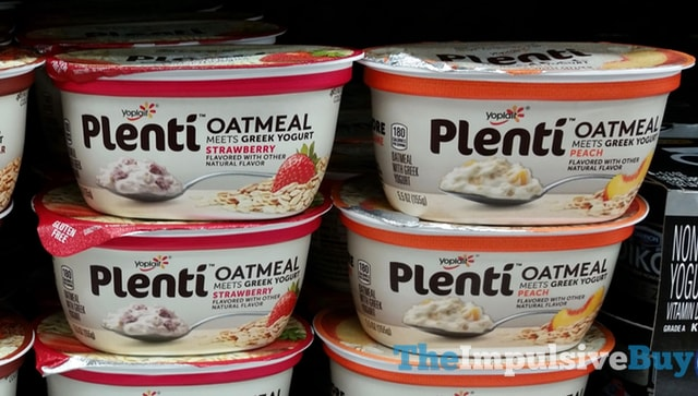 Yoplait Plenti Oatmeal (Strawberry and Peach)