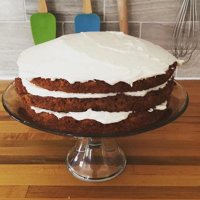 Carrot graham cake for dessert! (Yes recipe by @smittenkitchen !)