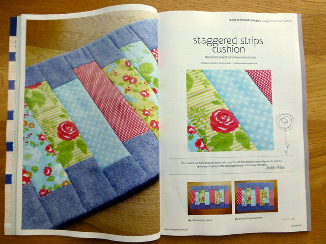 Staggered Strips Cushion / Popular Patchwork (April)