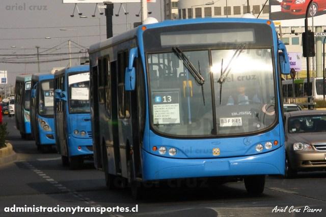 Transantiago - Unitran - Busscar Urbanuss Pluss / Mercedes Benz (BJFP40)