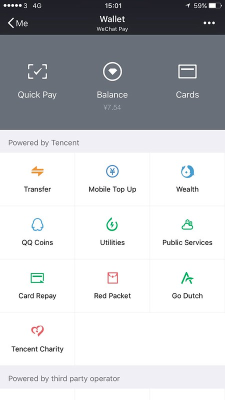 WeChat wallet now for louwai