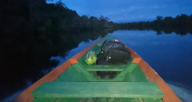 boat ride tupana river dusk