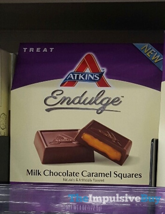 Atkins Endulge Milk Chocolate Caramel Squares