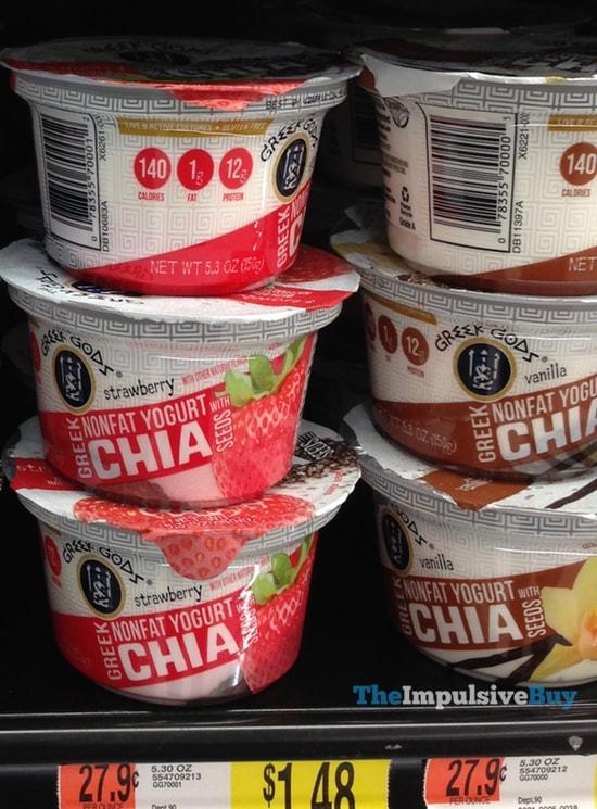 Greek Gods Strawberry and Vanilla Greek Yogurt with Chia Seeds