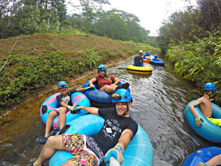One of the Top Things To Do on Kaua'i with the kids: Tubing on an old sugar plantation in Hawaii. Great fun for everyone! (Kaua'i Activities) - Hawaii Travel Tips, Kauai Tubing, Things to do Kauai, Hawaii Activities | Wanderlustyle.com