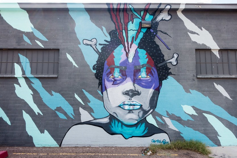 I really like the colors in this mural by Joe Fael.