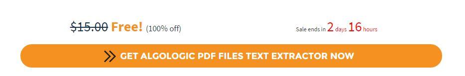 nhận bản quyền miễn phí Algologic PDF Files Text Extractor bước 2