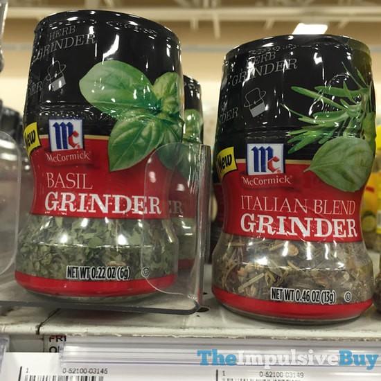McCormick Basil Grinder and Italian Blend Grinder