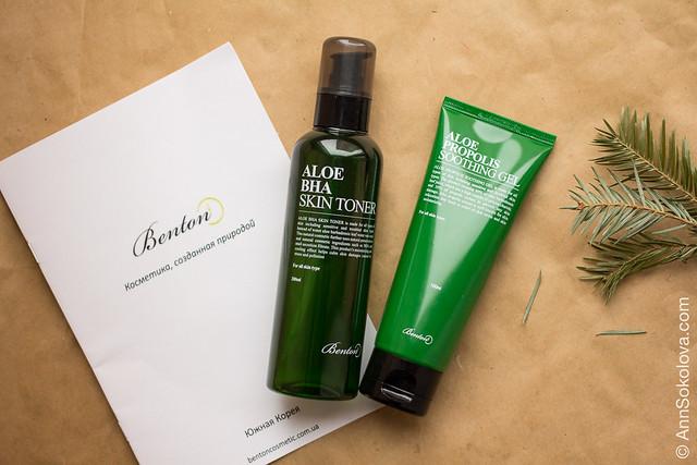 01 Benton Aloe BHA Skin Toner + Aloe Propolis Soothing Gel обзор