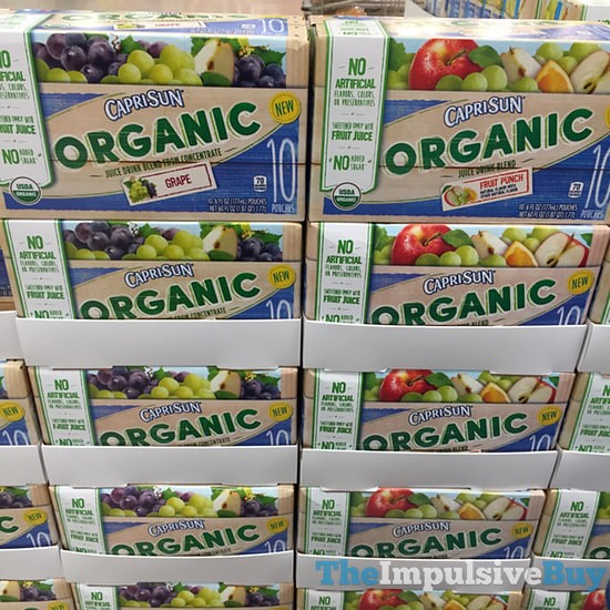 Capri Sun Organic (Grape and Fruit Punch)