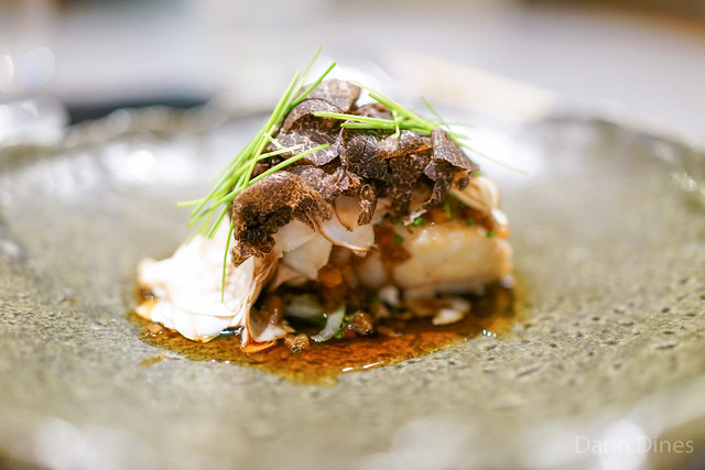 Amadai with French Winter Truffle and Assorted Mushrooms